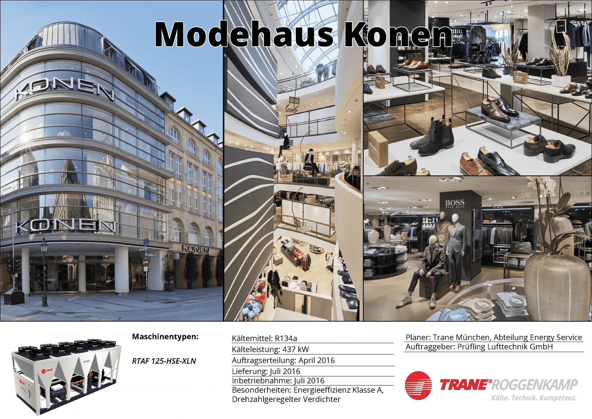 Klimatisierung Einzelhandel - Modehaus Konen in München